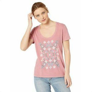 NWT Lucky Brand Women's Mosaic Tee, Dusty Rose, M